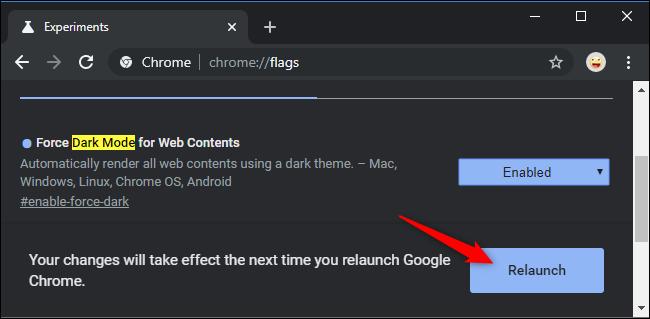 Khởi chạy lại Chrome sau khi bật cờ.