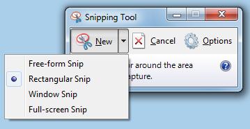 chụp ảnh màn hình bằng Snipping-Tool