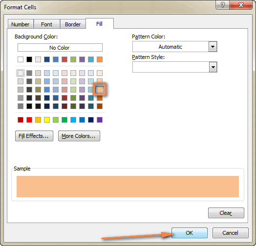 Choose the background color.