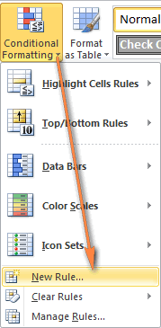 Empty cells are also highlighted with conditional formatting.