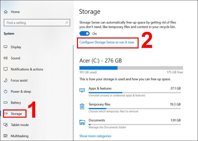 Cách tự động dọn rác trên máy tính Windows 10 đơn giản, nhanh chóng hiệu năng tối đa 12