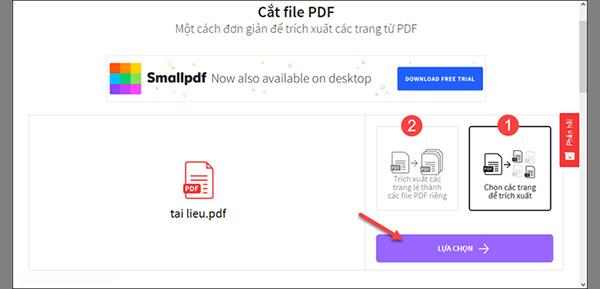 Cắt file PDF trực tuyến bằng công cụ SmallPDF (2)