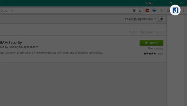 Cài đặt thành công tiện ích Chrome