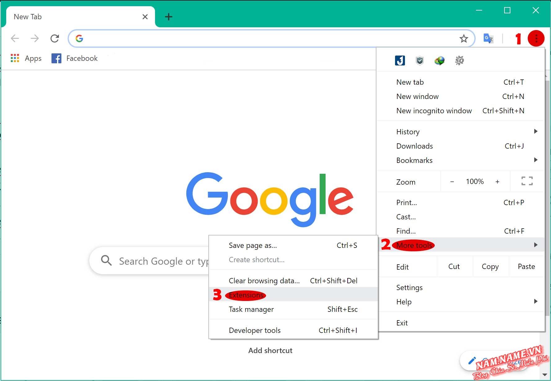 Vào trang quản lý Extension trên Chrome