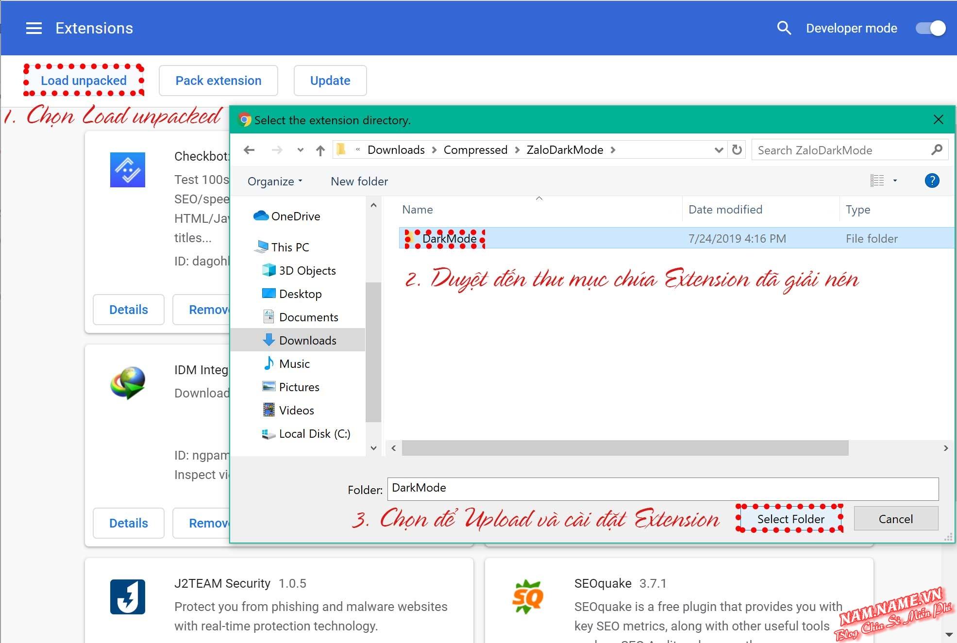 Cài đặt Add-on ngoài Chrome Web Store