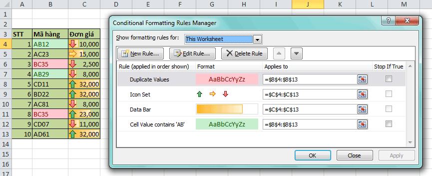 conditional formatting dinh dang theo dieu kien 3