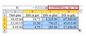 3 cách chuyển đổi giờ ra phút, giây cực nhanh trong Excel