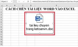 Cách đơn giản để chèn tài liệu Word vào file Excel