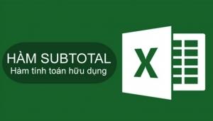 Cách sử dụng hàm Subtotal trong Excel
