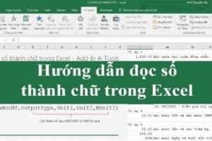 Đọc dữ liệu số thành chữ trong Excel