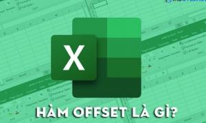 Kết hợp hàm offset và hàm sum trong excel