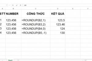 Một số cách làm tròn số trong Excel