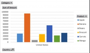 Pivot chart excel - Tạo biều đồ tự động theo tùy chọn người dùng