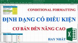 Sử dụng Conditional Formatting - Định dạng theo điều kiện trong excel