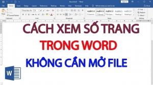 Xem số trang Word mà không cần mở file
